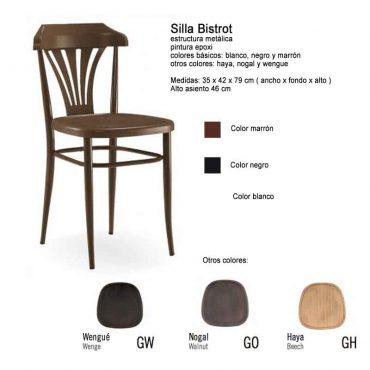 SILLA BISTROT METÁLICA ABS