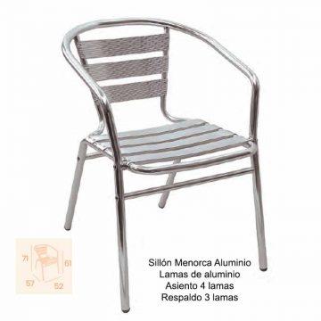 SILLÓN MENORCA ALUMINIO