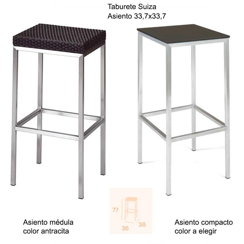 TABURETE SUIZA INOX