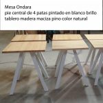 MESA ONDARA TABLERO PINO 70×70