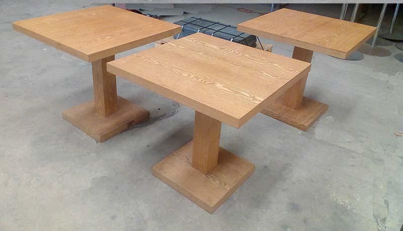 Mesa cuadrada madera 80×80