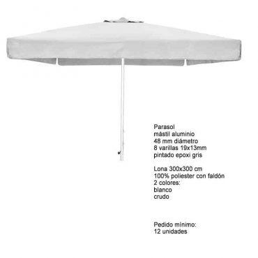PARASOL ALUMINIO 300×300 oferta