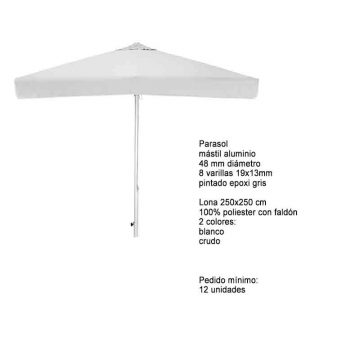 PARASOL ALUMINIO 250×250 OFERTA