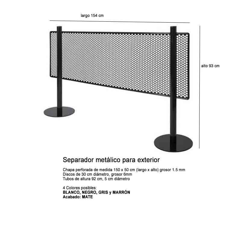 SEPARADOR METALICO TERRAZA